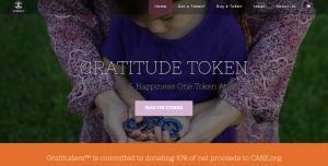 Gratitude Token homepage screenshot
