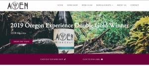 Awen Winecraft homepage screenshot