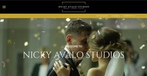 Nicky Avalo Studios homepage screenshot